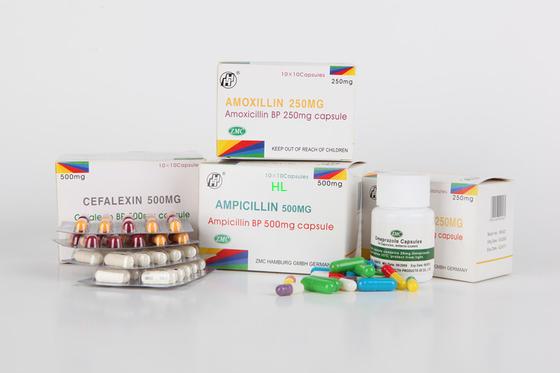 China La ampicilina encapsula 250MG 500MG BP/medicinas de las penicilinas de USP distribuidor